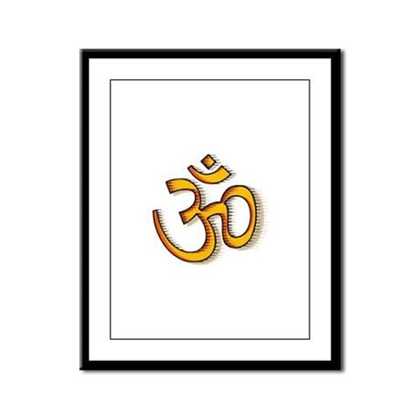 Om yoga Framed Panel Print