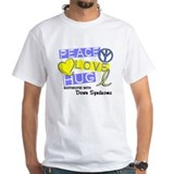 PEACE LOVE CURE Down Syndrome (L1) Shirt