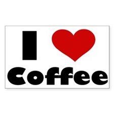 I Heart Coffee Rectangle Decal