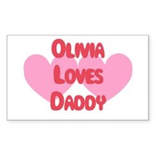 Olivia Loves Daddy Rectangle Decal