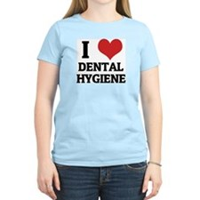 I Love Dental Hygiene Women's Pink T-Shirt