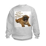 leonberger puppy wag Sweatshirt