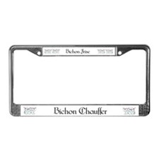 Bichon Frise Fun License Plate Frame