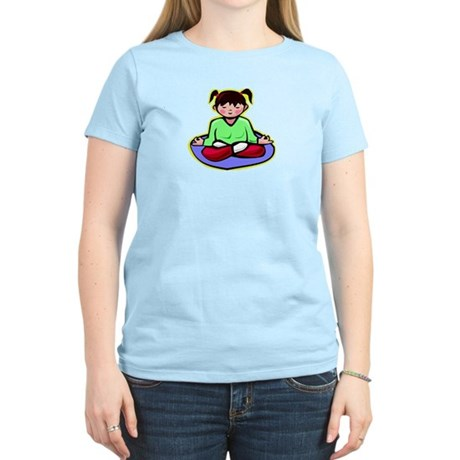 Little yoga girl Women's Light T-Shirt