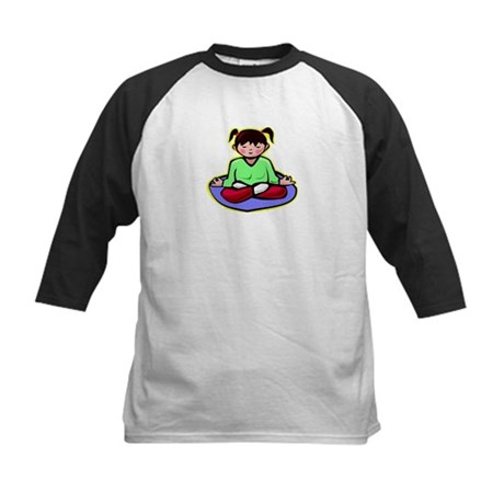 Little yoga girl Kids Baseball Jersey