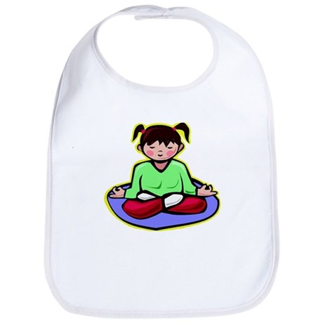 Little yoga girl Bib