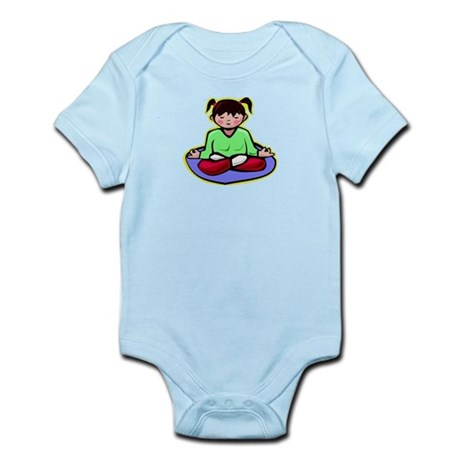 Little yoga girl Infant Bodysuit