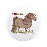 "I Love Ponies 3.5"" Button (100 pack)"