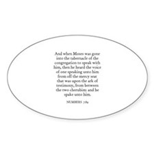 NUMBERS 7:89 Oval Decal