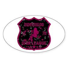 Didgeridoo Diva League Oval Decal