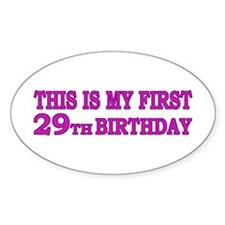 29th Birthday Oval Decal