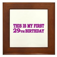 29th Birthday Framed Tile