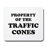 Traffic Cones Property. Mousepad