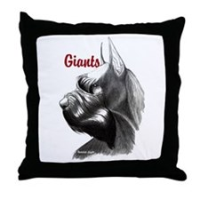 giant schnauzer Throw Pillow