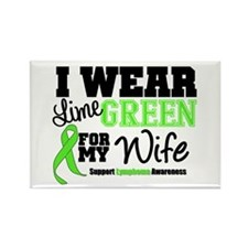 IWearLimeGreen Wife Rectangle Magnet