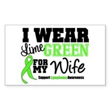 IWearLimeGreen Wife Rectangle Sticker 50 pk)
