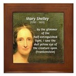 Writer Mary Shelley Framed Tile