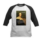 Writer Mary Shelley Kids Baseball Jersey