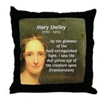 Writer Mary Shelley Throw Pillow