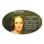 Writer Mary Shelley Oval Sticker