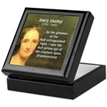 Writer Mary Shelley Keepsake Box