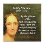 Writer Mary Shelley Tile Coaster
