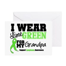 I Wear Lime Green Grandpa Greeting Cards (Pk of 20