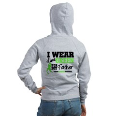 I Wear Lime Green Father Women's Zip Hoodie