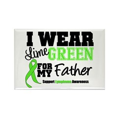 I Wear Lime Green Father Rectangle Magnet