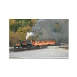 Cute Cog railway Rectangle Magnet (100 pack)