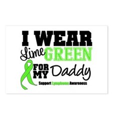 I Wear Lime Green Daddy Postcards (Package of 8)