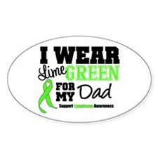 IWearLimeGreen Dad Oval Sticker (50 pk)