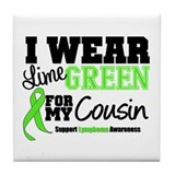 I Wear Lime Green Cousin Tile Coaster