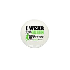 IWearLimeGreen Brother Mini Button (100 pack)