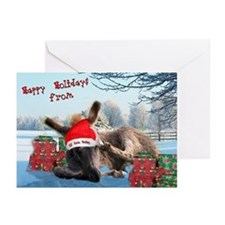 Lil Santa Donkey Greeting Cards (Pk of 10)