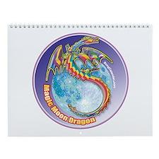 Magic Moon Dragon Wall Calendar