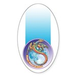 Magic Moon Dragon Sticker (Oval 50 pk)