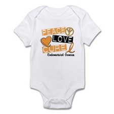 PEACE LOVE CURE Endometrial Cancer Infant Bodysuit