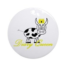 Unique Milk cow Ornament (Round)