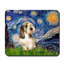 Starry Night Petit Basset (#4) Mousepad