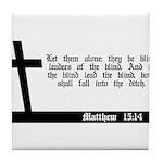 Christian Matthew 7:7-8 Tile Coaster