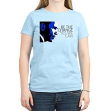 Obama - Change - We Can - Blue T-Shirt