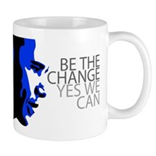 Obama - Change - We Can - Blue Mug