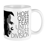 Obama - Hope Over Division - Grey Coffee Mug