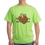 Guy broke my heart and I hate him Green T-Shirt