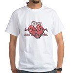 Guy broke my heart and I hate him White T-Shirt