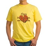 Guy broke my heart and I hate him Yellow T-Shirt
