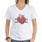 Guy broke my heart and I hate him Women's V-Neck T