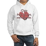 Guy broke my heart and I hate him Hooded Sweatshir