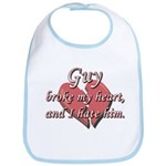 Guy broke my heart and I hate him Bib